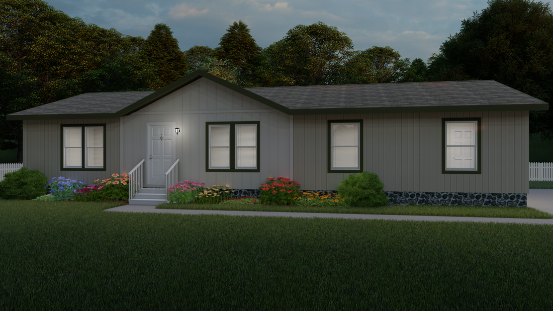 The 2020 COLUMBIA RIVER Exterior. This Manufactured Mobile Home features 3 bedrooms and 2 baths.