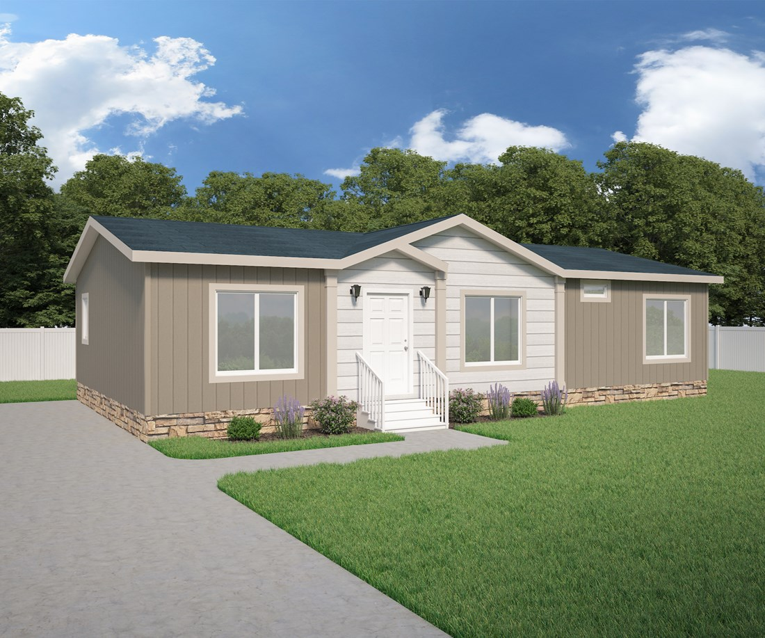 The 5502 - ARABIAN Exterior. This Manufactured Mobile Home features 3 bedrooms and 2 baths.