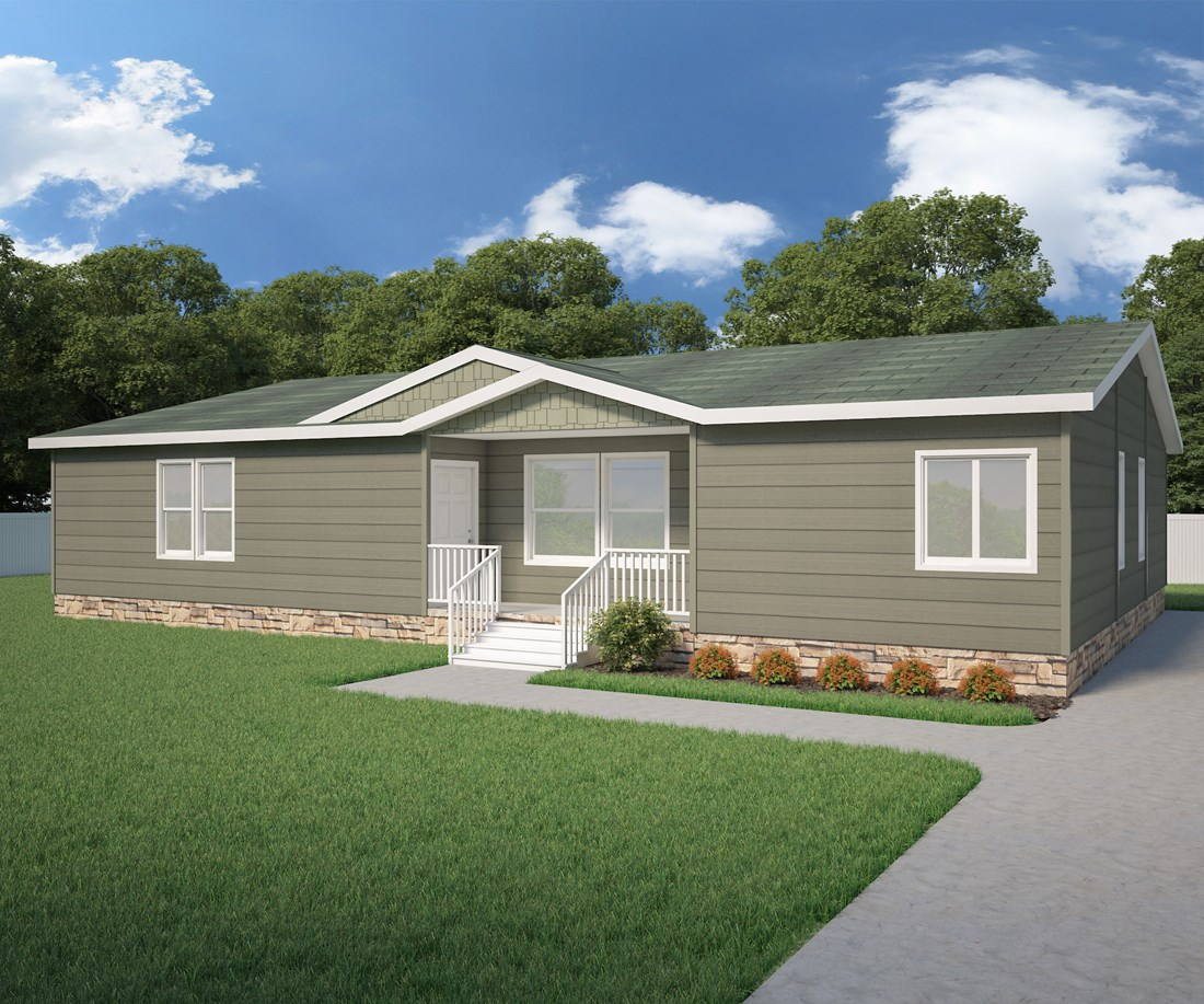 The 9588S THE SAINT HELENS Exterior. This Manufactured Mobile Home features 3 bedrooms and 2 baths.