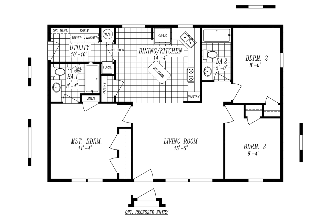 The 2840A MILL STREAM Floor Plan