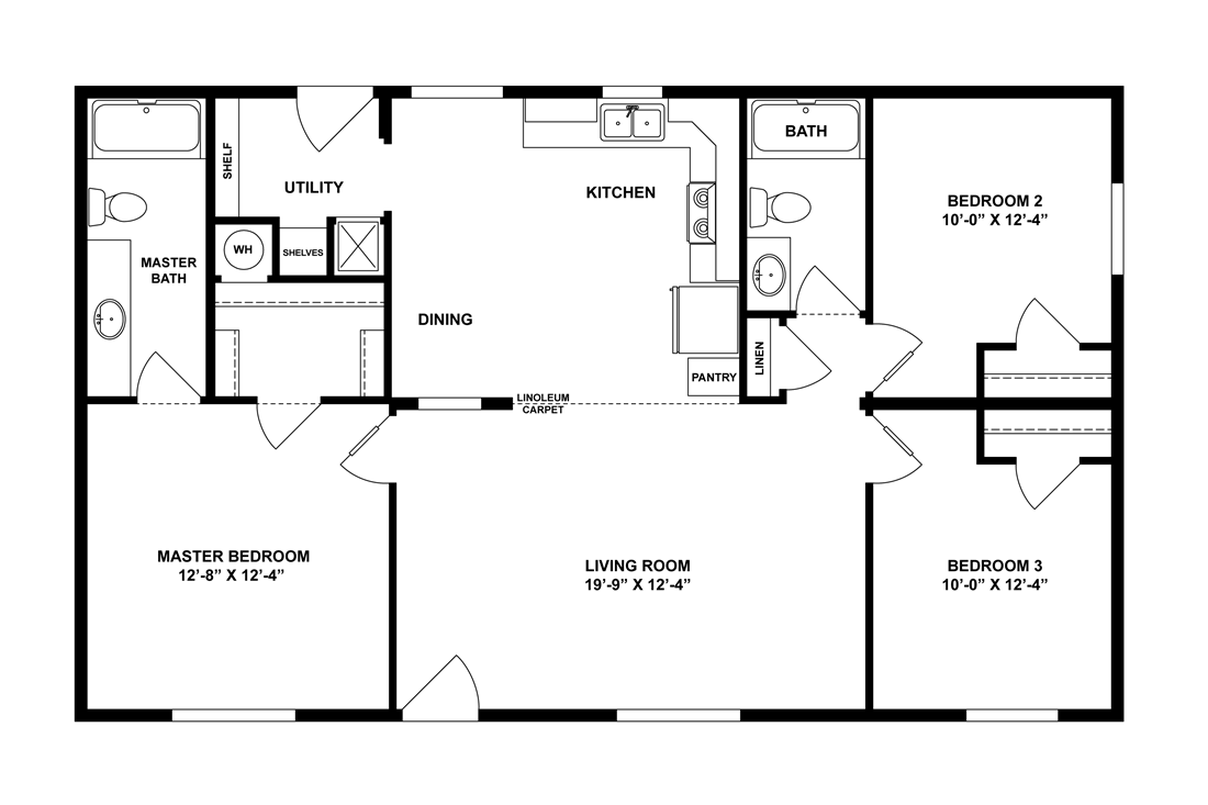 The 2844A DESERT BLOOM Floor Plan